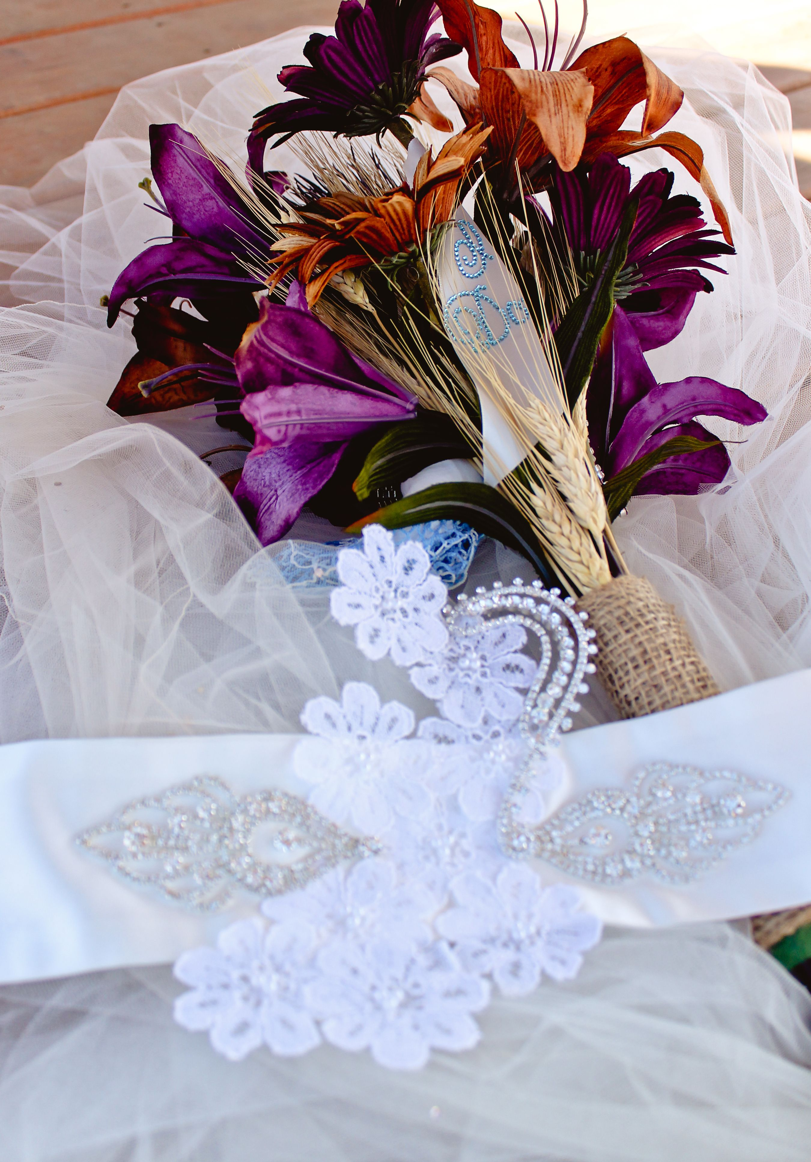 Something old flowers on the sash are from my momus wedding dress