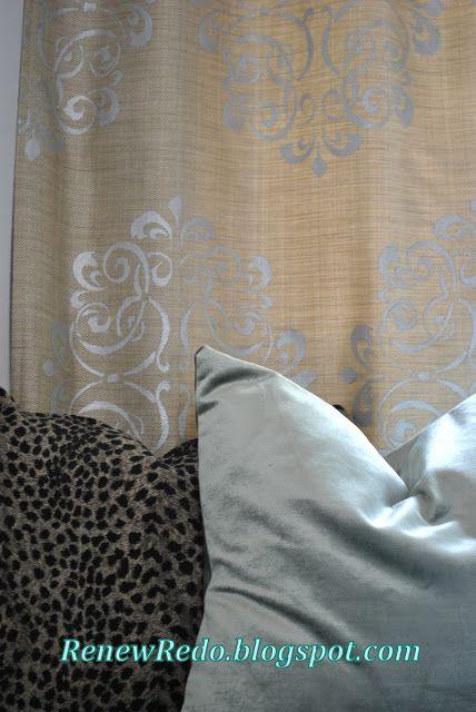 ReNew ReDo!: Metallic Stenciled Curtain