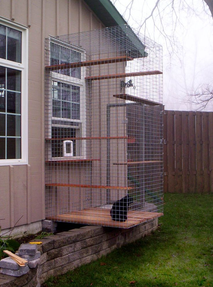 For the cattery someday! Each kitty condo has an attached