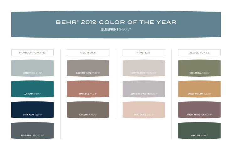 Color Of The Year Blueprint Behr Color Trends Behr Colors