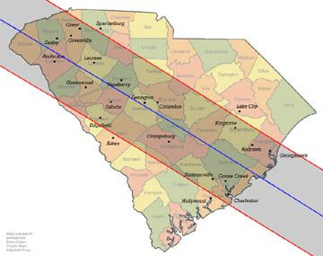 Total Solar Eclipse 2017 Path Through The United States Sc Will