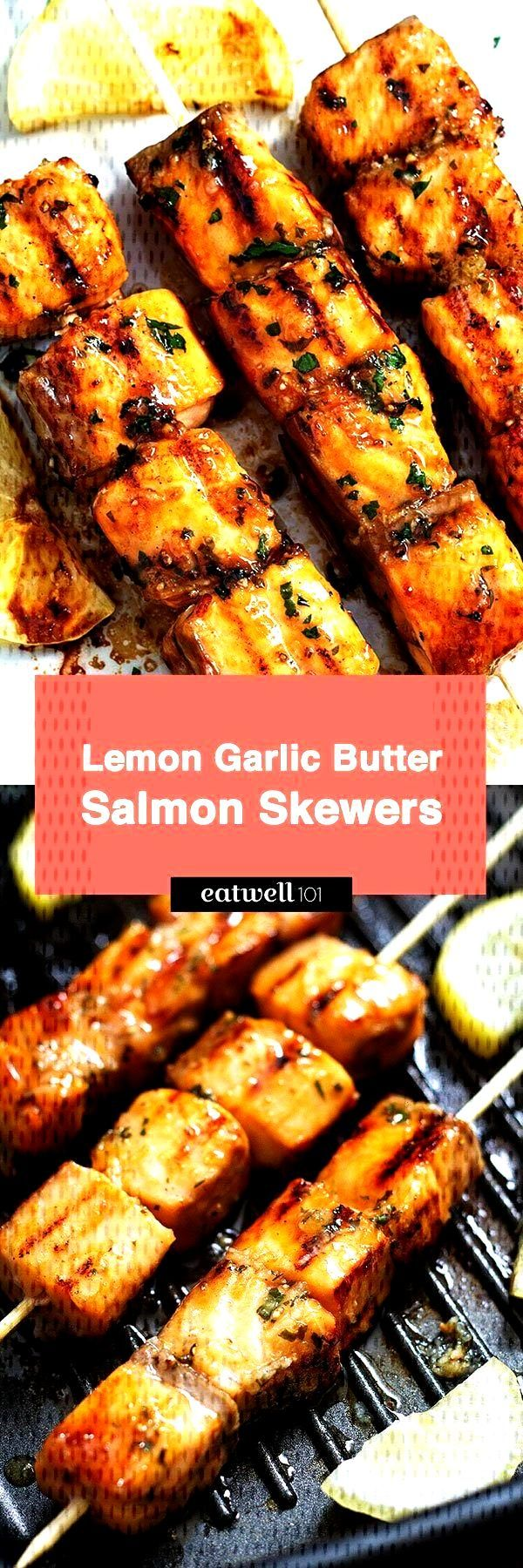 Lemon-garlic butter grilled salmon - sea-food recipes marinade ..., ... - Lemon-garlic butter gril