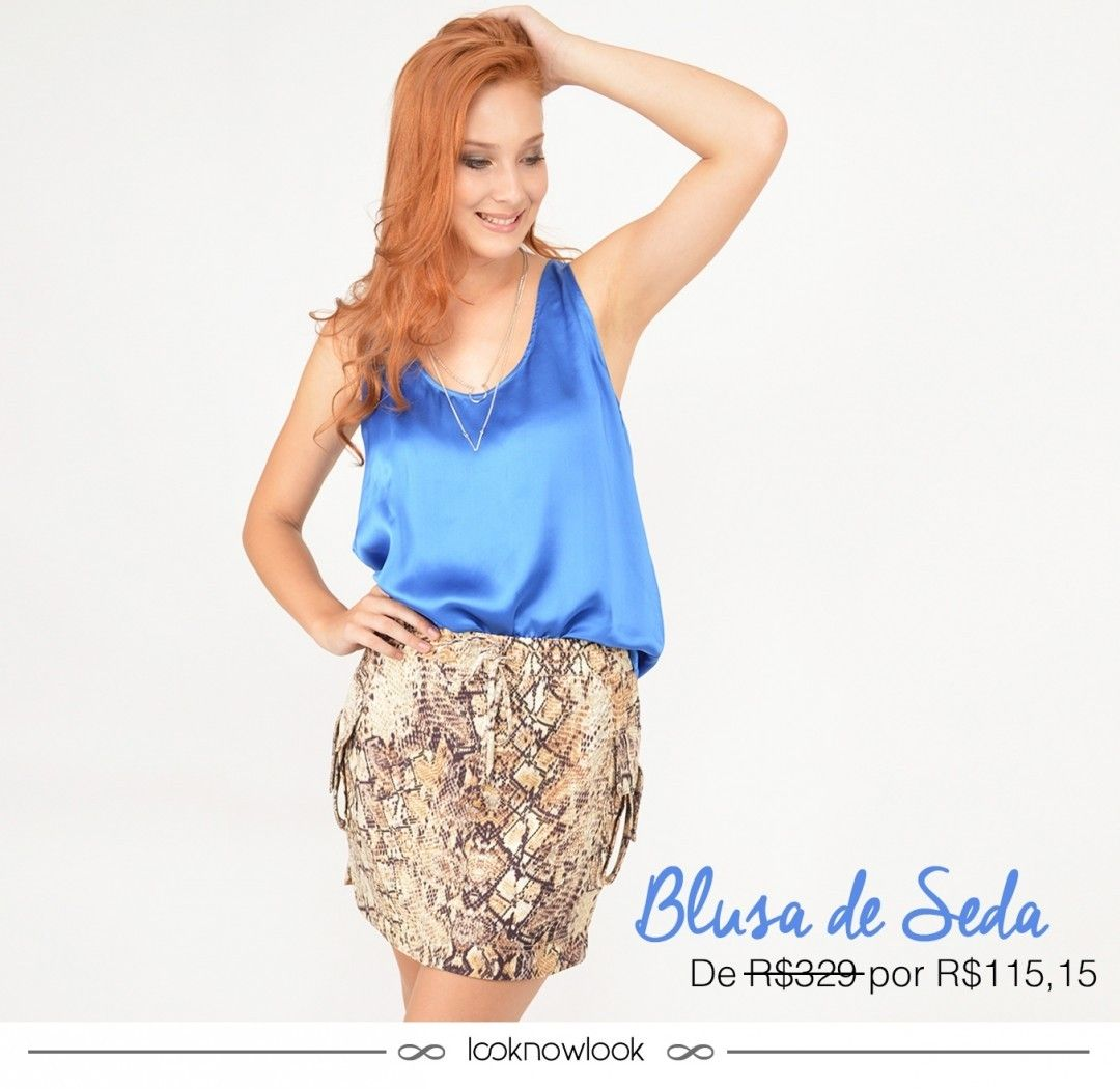 {link no perfil para comprar} Blusa de seda da Bobstore.Também disponível na cor laranja. Para comprar é só acessar o link aqui do nosso perfil (na bio): @looknowlook  #moda #look #outfit #ootd #bobstore #spezzato #azul #animalprint #getthelook #estilo #shop #lojaonline #ecommerce #lnl #looknowlook url:http://goo.gl/2rhvWe by looknowlook