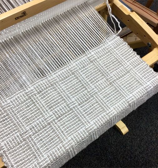 Log Cabin Weave On A Kromski Rigid Heddle Loom Nature