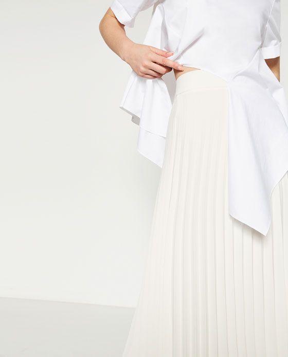 $70. Image 6 of ACCORDION PLEAT SKIRT from Zara