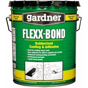 4 75 Gal Flexx Bond Rubberized Roof Coating And Mb Adhesive 1365 Ga At The Home Depot Roof Coating Roll Roofing Roofing Systems
