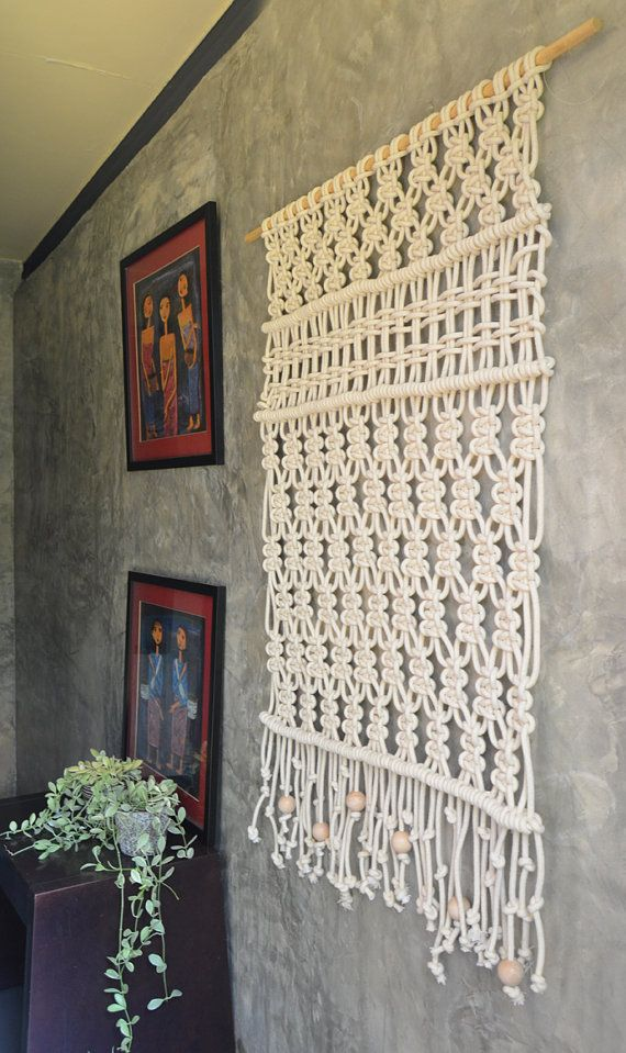 Colgante macramé / tapiz / pared arte / Macrame moderno Macrame - tapices modernos