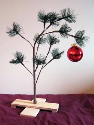 Charlie Brown's Pathetic Christmas Tree as featured in Charles Schulz' excellent comic strip Peanuts…
