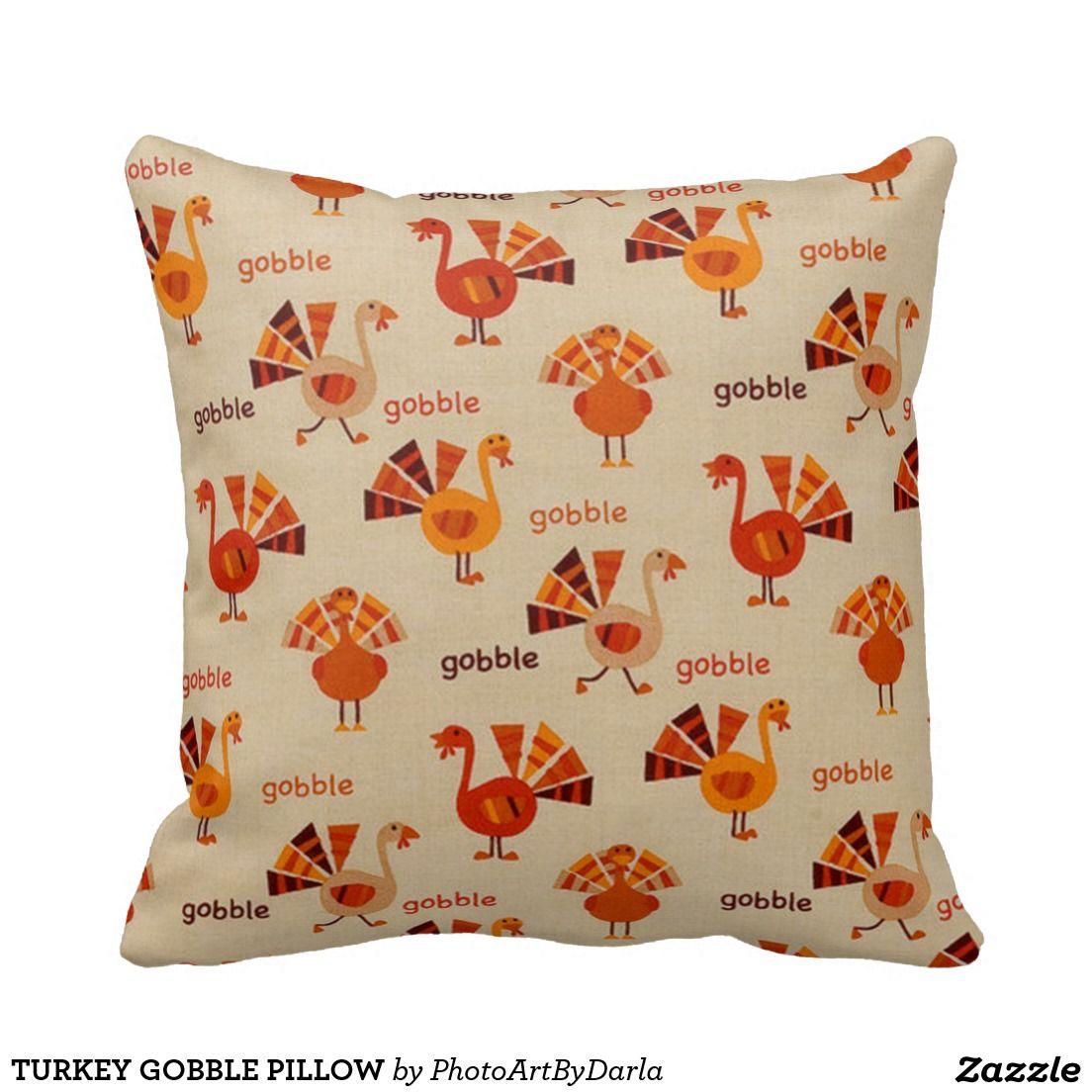 TURKEY GOBBLE PILLOW | Thanksgiving Throw Pillows | Pinterest