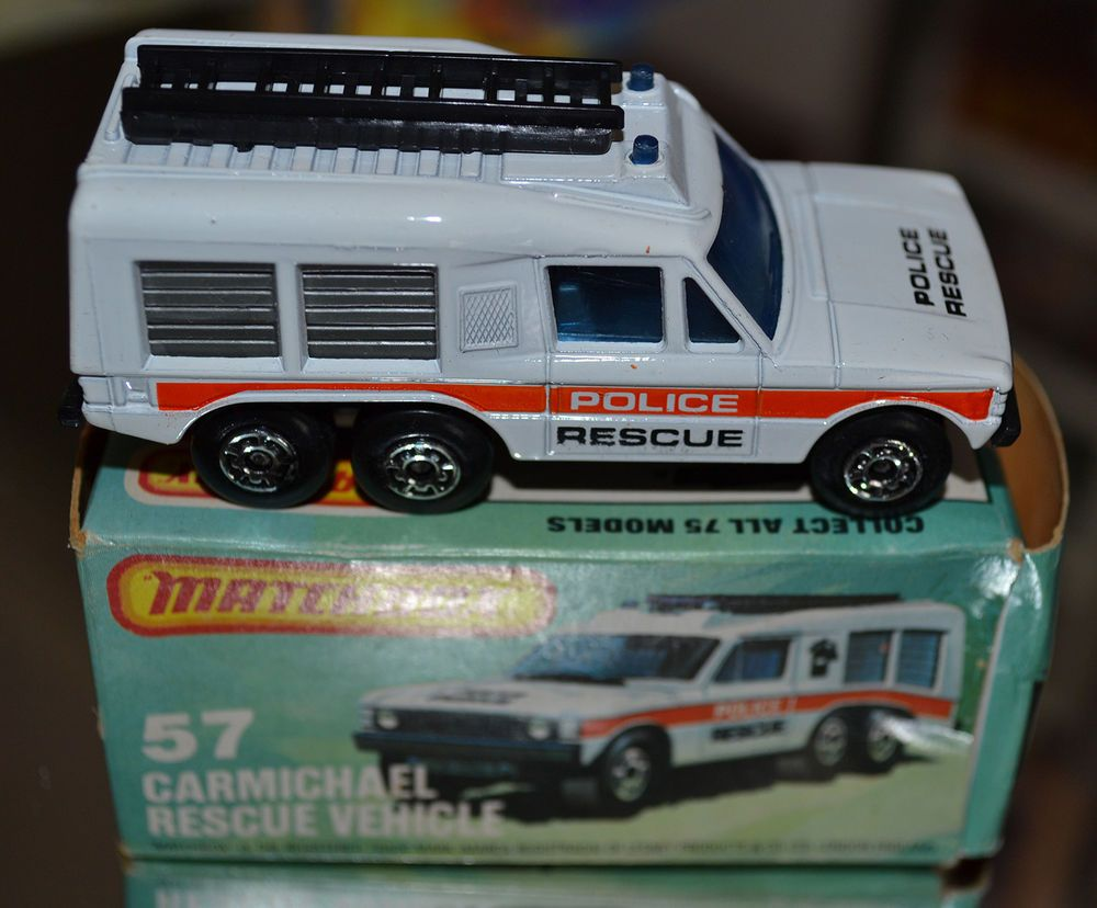 Matchbox Superfast 57 Police Carmichael Rescue Vehicle Mint In 2021 Rescue Vehicles Matchbox Matchbox Cars [ 828 x 1000 Pixel ]