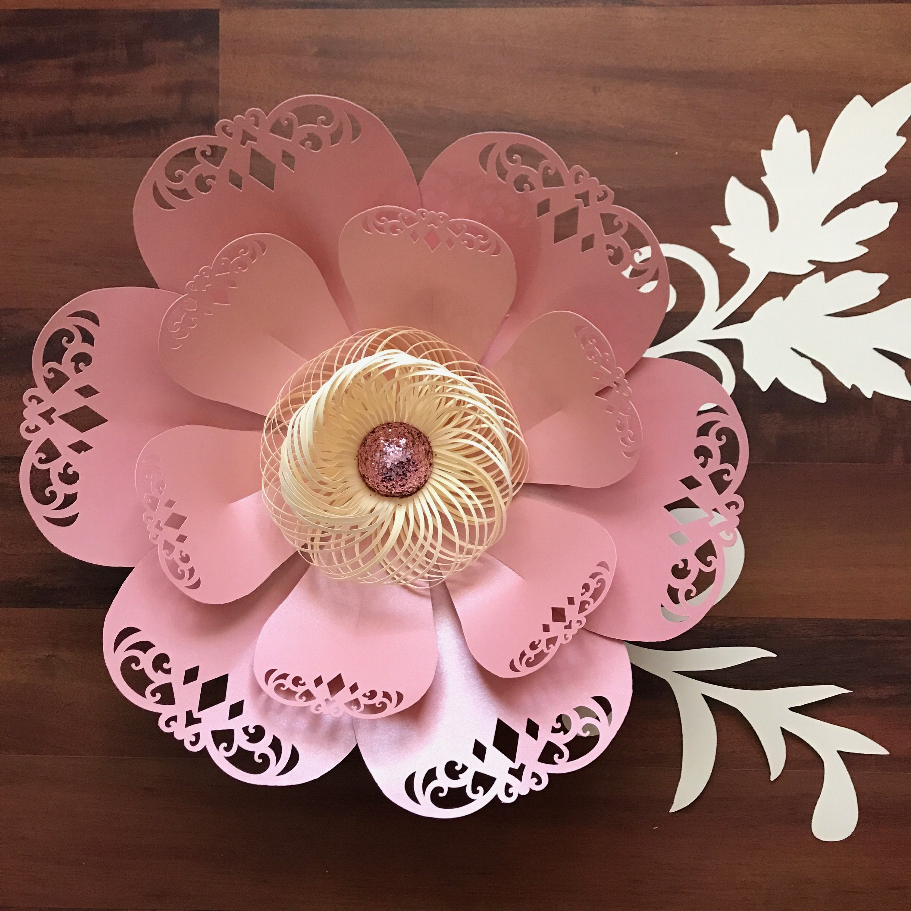 Lace Petal 3 Paper Flower Templates Available In The Crafty