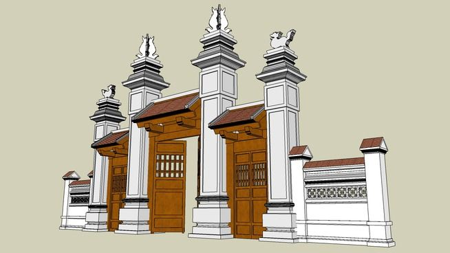 Triple gates - 3D Warehouse | Nghệ thuật