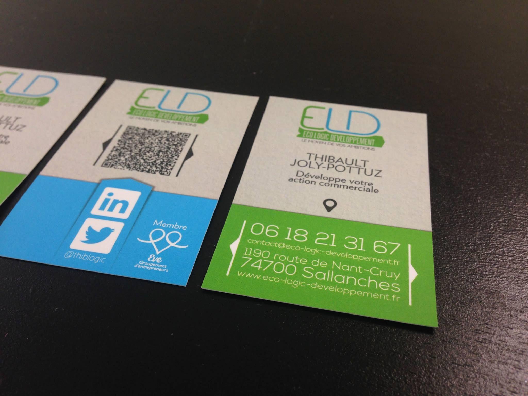 Logo Et Carte De Visite Pour Co Logic Dveloppement Une Entreprise Qui Aide Ses Homologues Se Dvelopper Commercialement