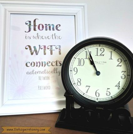 Free printable Wifi sign, guest room ideas.