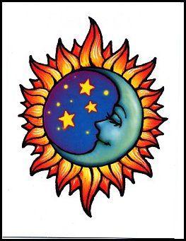 Sun Moon Dipinti Illustrazioni E Immagini