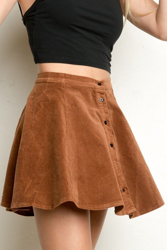 239b1b381 So in love with these suede skirts! Wear it as a statement piece with  minimal plain items of clothing to complement it. Brandy ♥ Melville | Brya  Corduroy ...