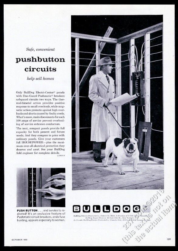 [DIAGRAM_5UK]  1958 bulldog photo BullDog Electric home circuit breaker box vintage print  ad | Circuit breaker box, Print ads, Breaker box | Vintage Ads Fuse Box |  | Pinterest