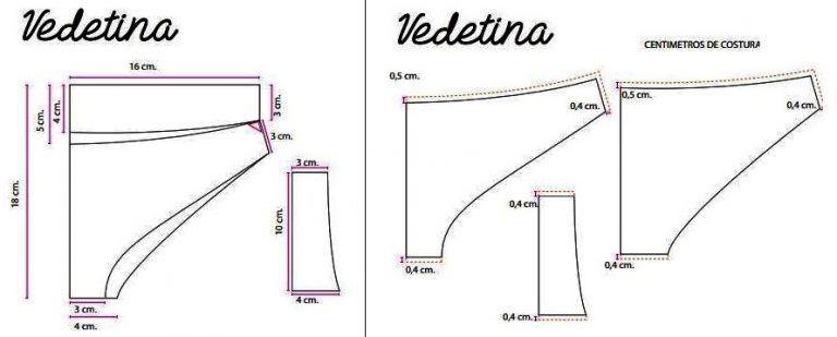 Image result for Vedetina, Patrón y Escala por tallas