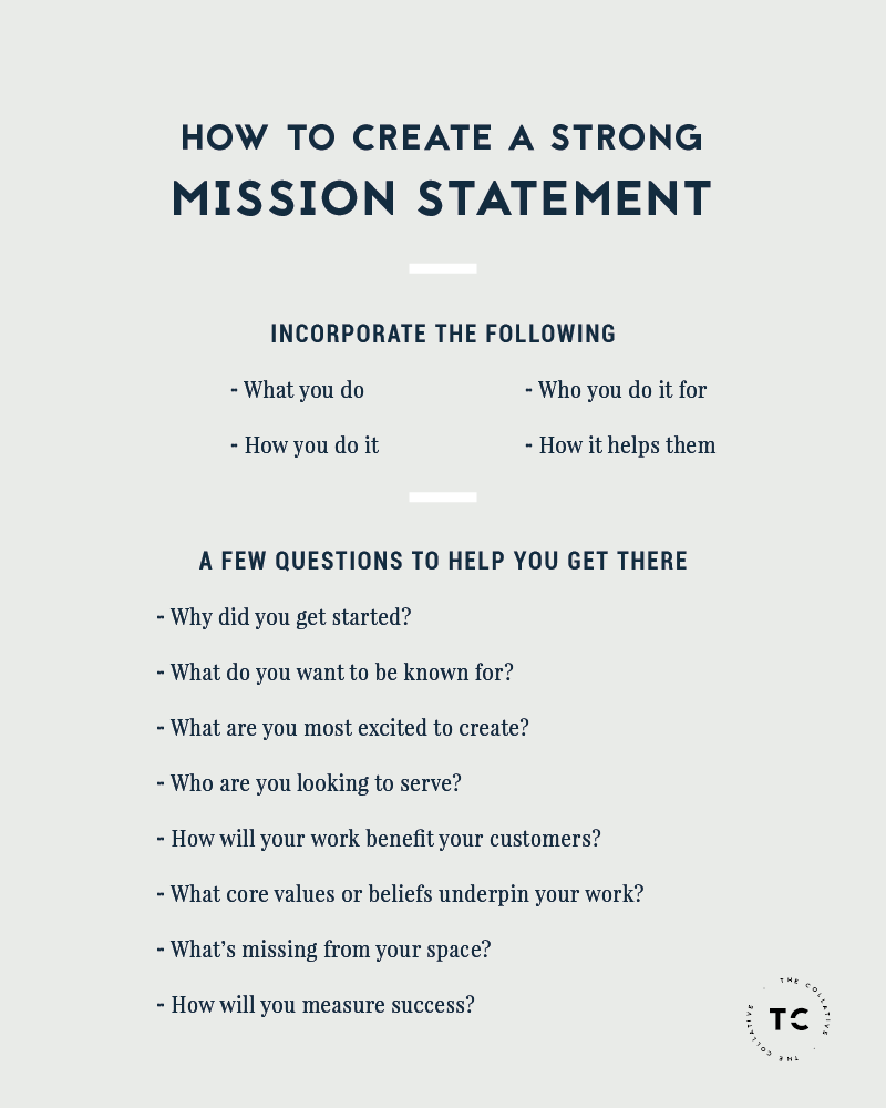How to create a strong mission statement for your creative business ...