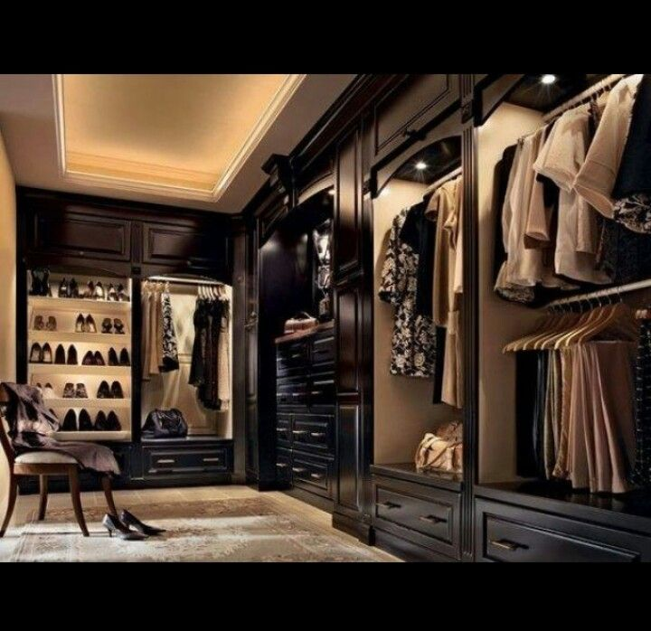 My walk-in closet.   Because getting dressed should always feel like shopping. - Tip Jones
