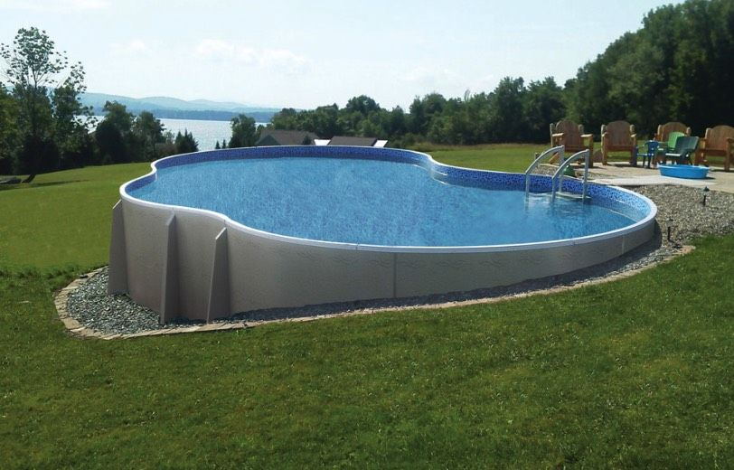 Beauty On A Budget Above Ground Pool Ideas Above Ground Swimming Pools Backyard Pool Above Ground Pool Landscaping