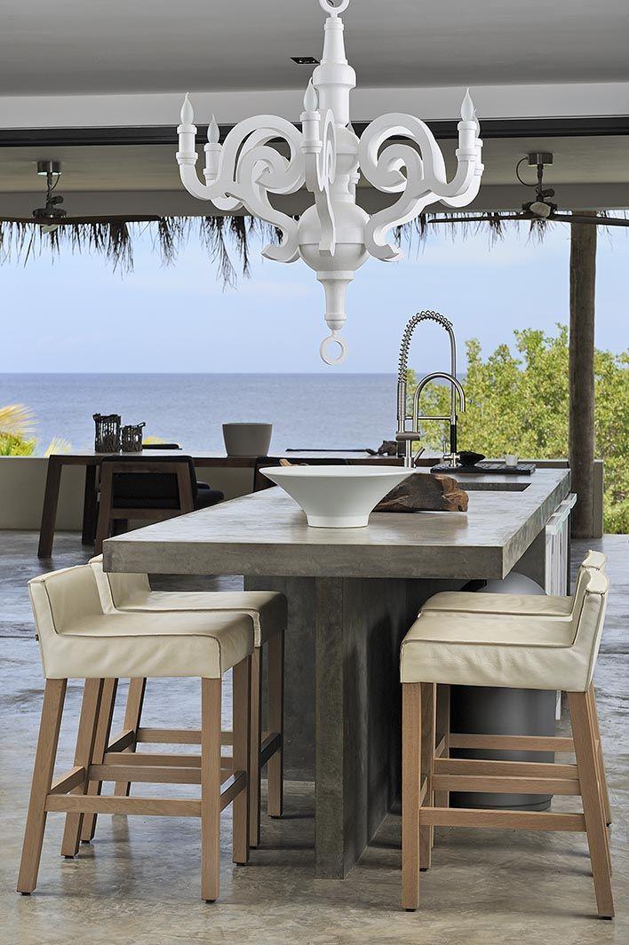 Architecture Design E concreto (chão e bancada pia) | varanda gourmet | pinterest