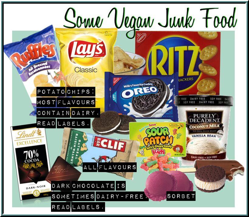 Some of my fav vegan junk food. (clif bars aren't really