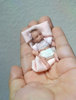 mini baby doll polymer clay With accessories
