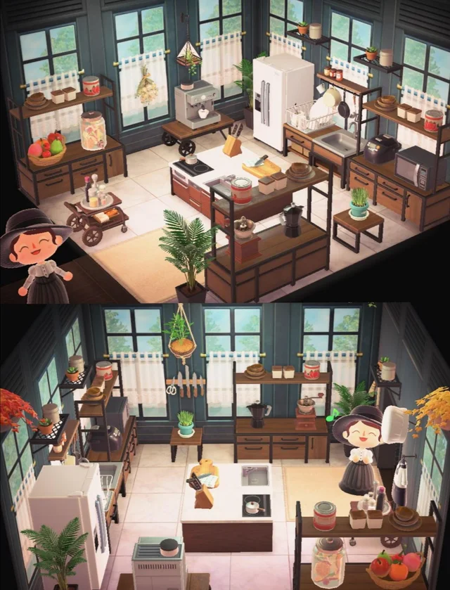 My kitchen is finally done! Yet another Ironwood but I'm ... on Ironwood Kitchen Animal Crossing  id=54199