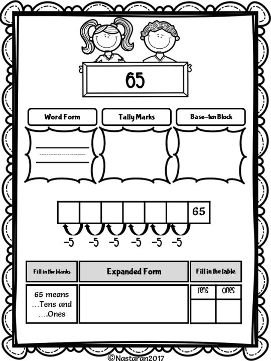 Place Value Worksheets 1st Grade Games Pinterest