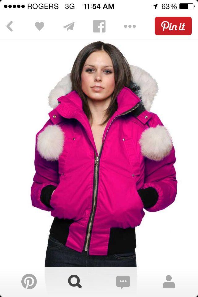 18506c2c0 Pink Moose Knuckle Bomber Jacket