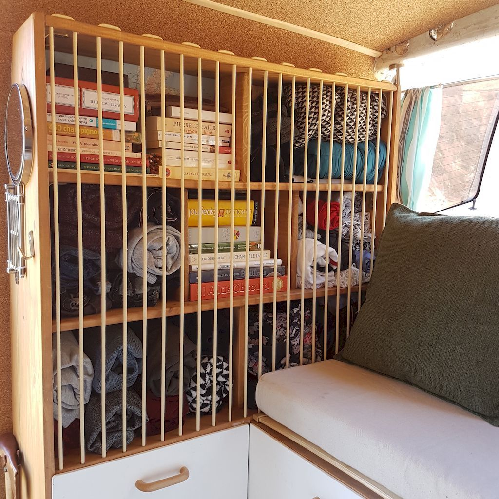 Camper van interior design and organization ideas 61 for Camper storage