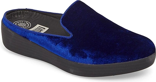 30bcf2bc8773a  footwear  FitFlop  shoes  mules. Women s Fitflop Superskate Velvet Mule in Midnight  Navy.