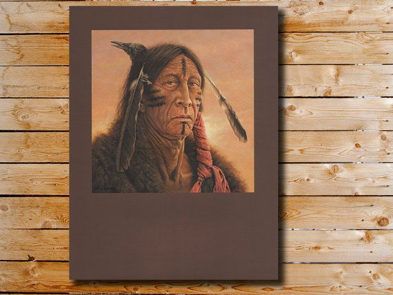 Native American Art Kirby Sattler Silent Sky by KirbySattlerPrints