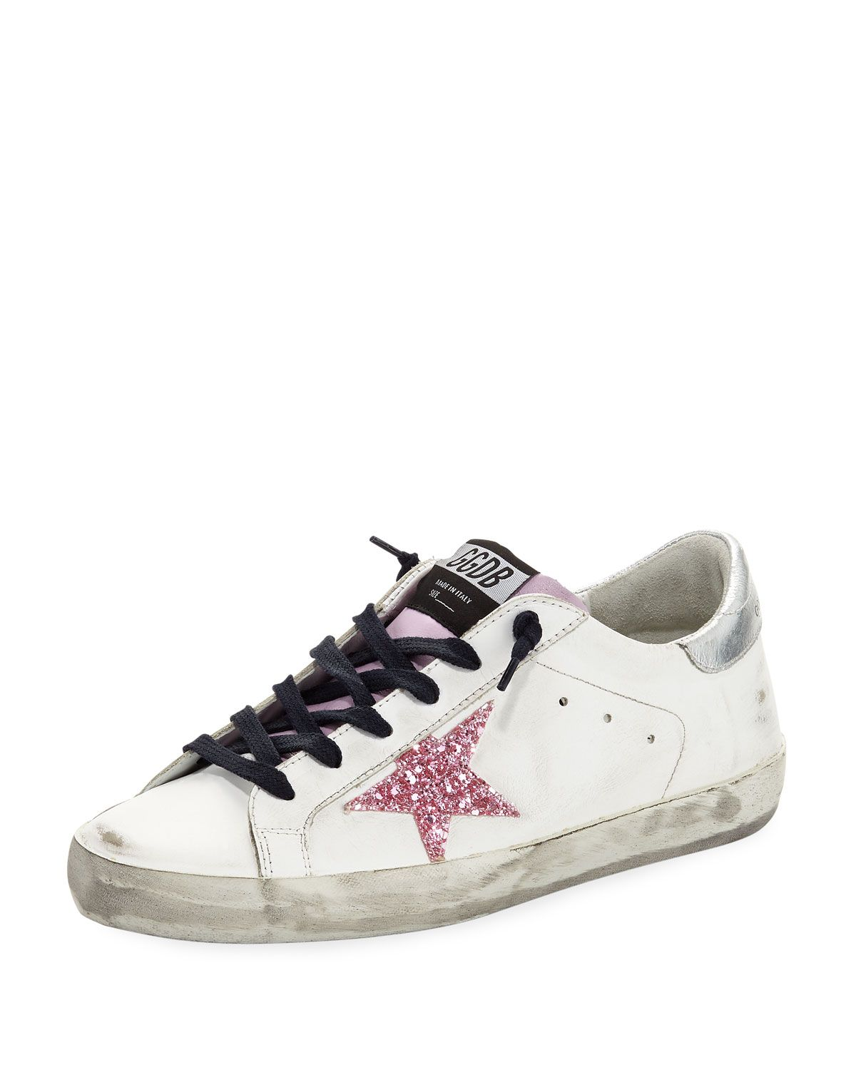 3ff38ba7c4e GOLDEN GOOSE SUPERSTAR GLITTER PLATFORM SNEAKER.  goldengoose  shoes ...