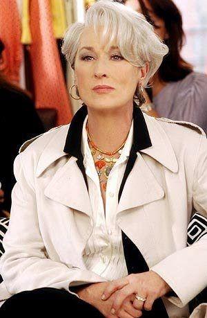 Miranda Priestly O Diabo Veste Prada Womens Hairstyles Hair