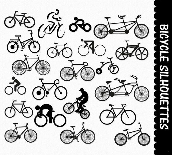 Bicycle Clip Art Graphics Cycle Sport Clipart Scrapbook