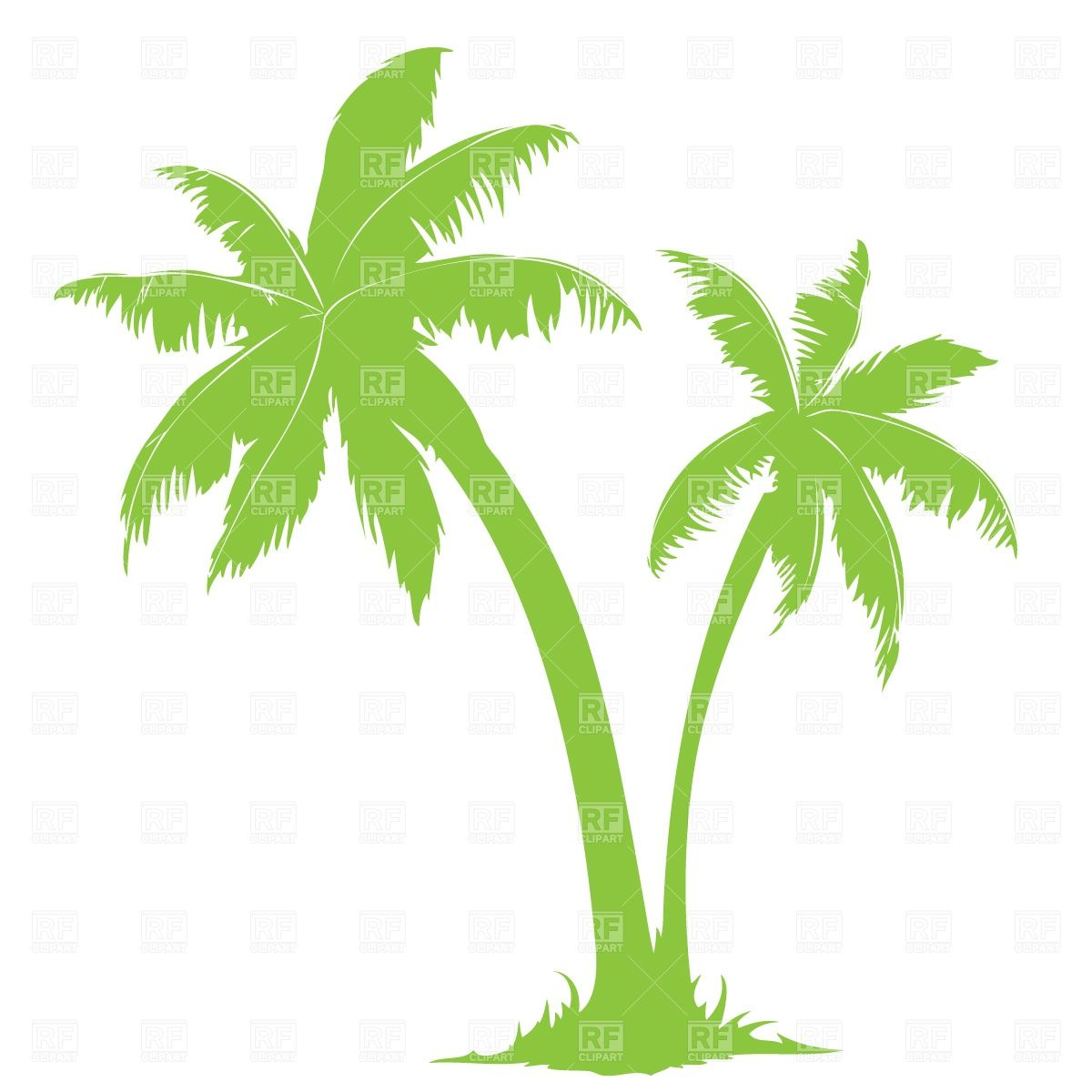 Palm tree silhouette, 650, Silhouettes, Outlines, Download ...