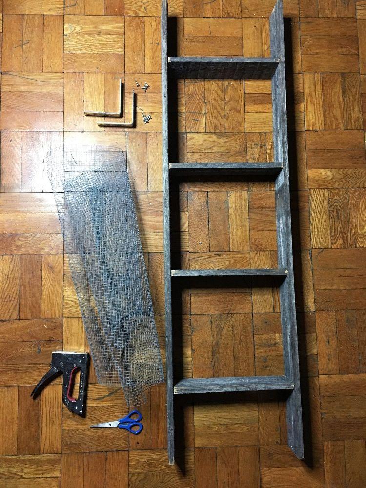 Repurposed Ladder Into Shelf Old Ladder Repurposed Shelves