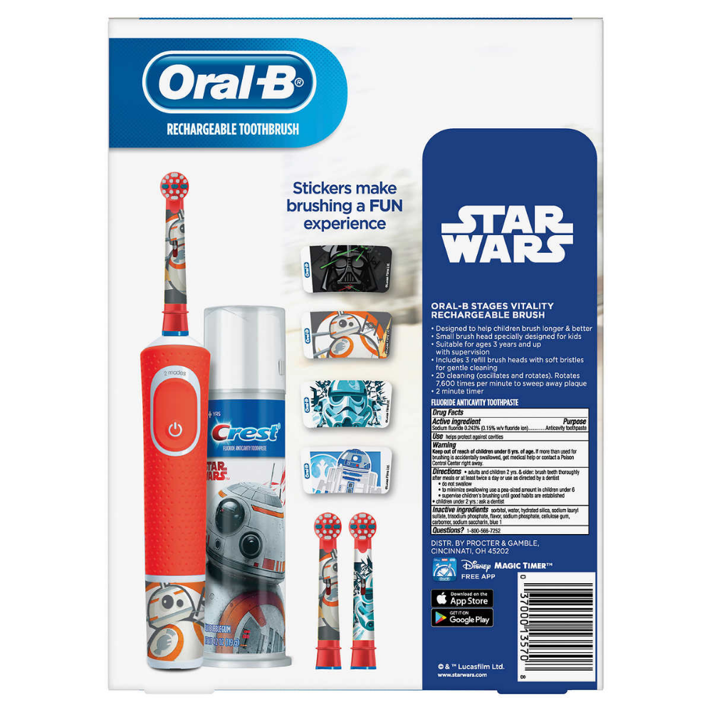 OralB Kids Disney's Frozen 2 or Star Wars Rechargeable