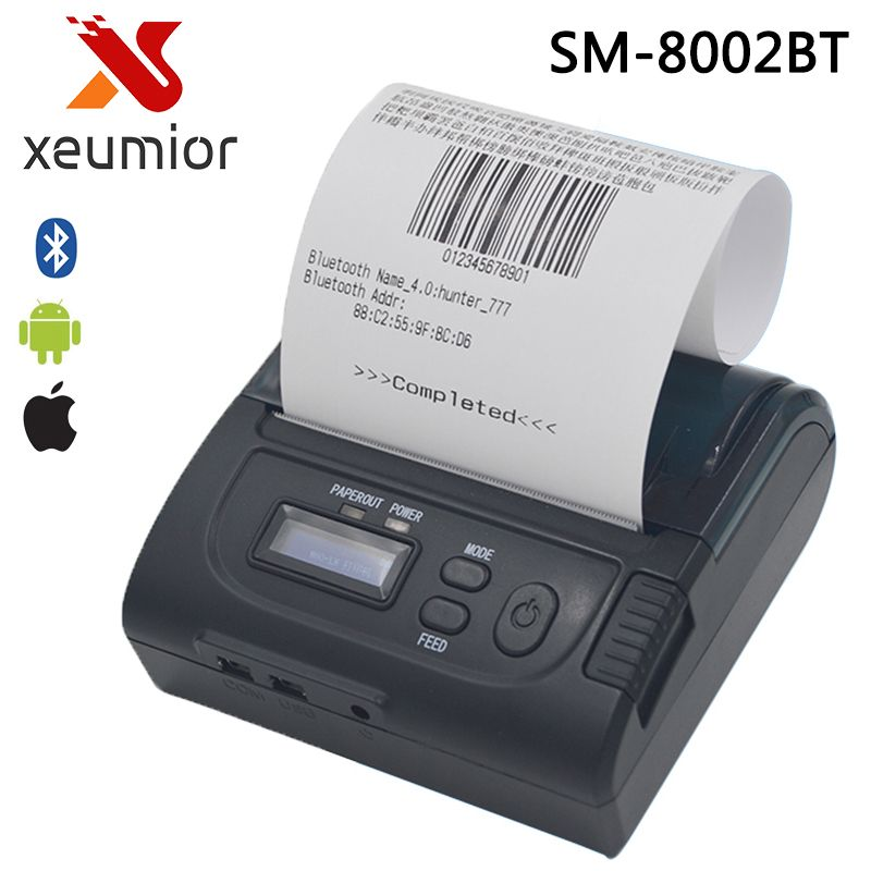 free sdk 80mm mini bluetooth printer mobile portable printer android