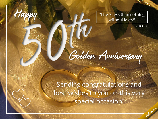 Send Your Congratulations And Best Wishes For A Happy 50th