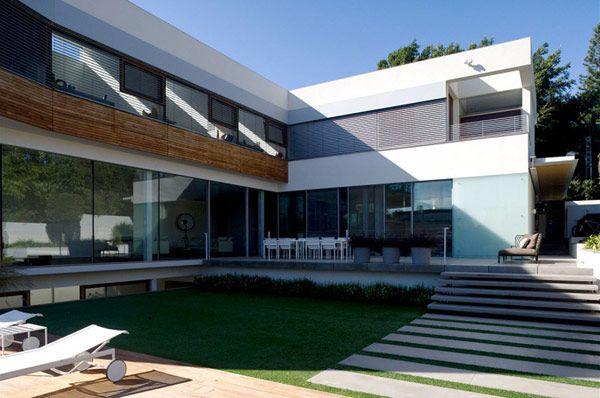 Dise o de interiores arquitectura casa contempor nea de for Casa moderna l
