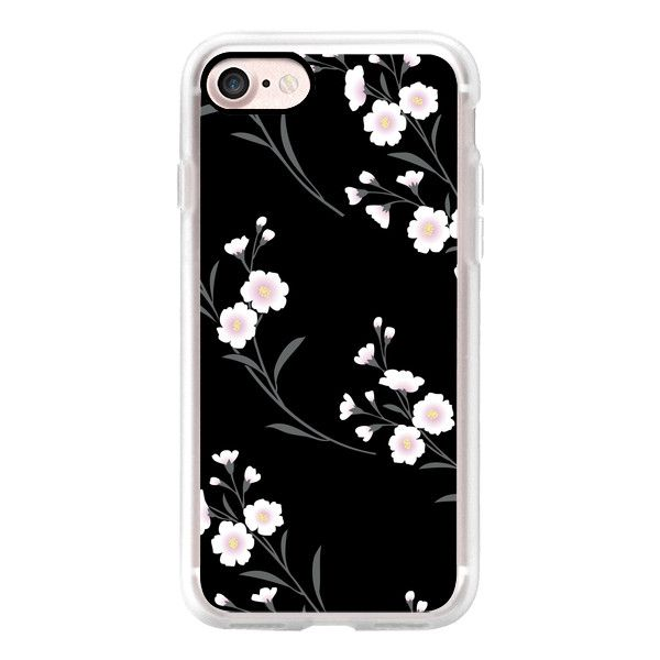 Japanese flowers - iPhone 7 Case, iPhone 7 Plus Case, iPhone 7 Cover,... ($40) ❤ liked on Polyvore featuring accessories, tech accessories, iphone case, flower iphone case, iphone cases, slim iphone case, apple iphone case and iphone cover case