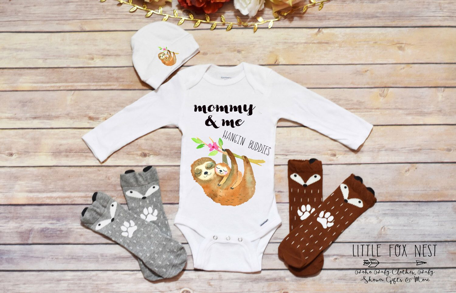 5f1460643 Zero Fox Given Onesie®, Baby Shower Gift, Hipster Baby, Boho Baby Clothes