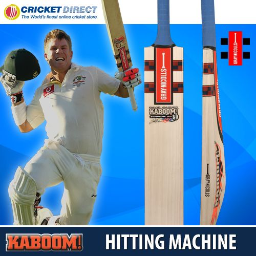 David Warner's Gray Nicolls Kaboom Cricket Bat should come