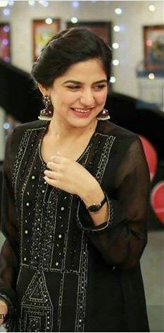 d55f83d0c7 Sanam baloch in black dress | Sanam Baloch in 2019 | Bridal anarkali ...