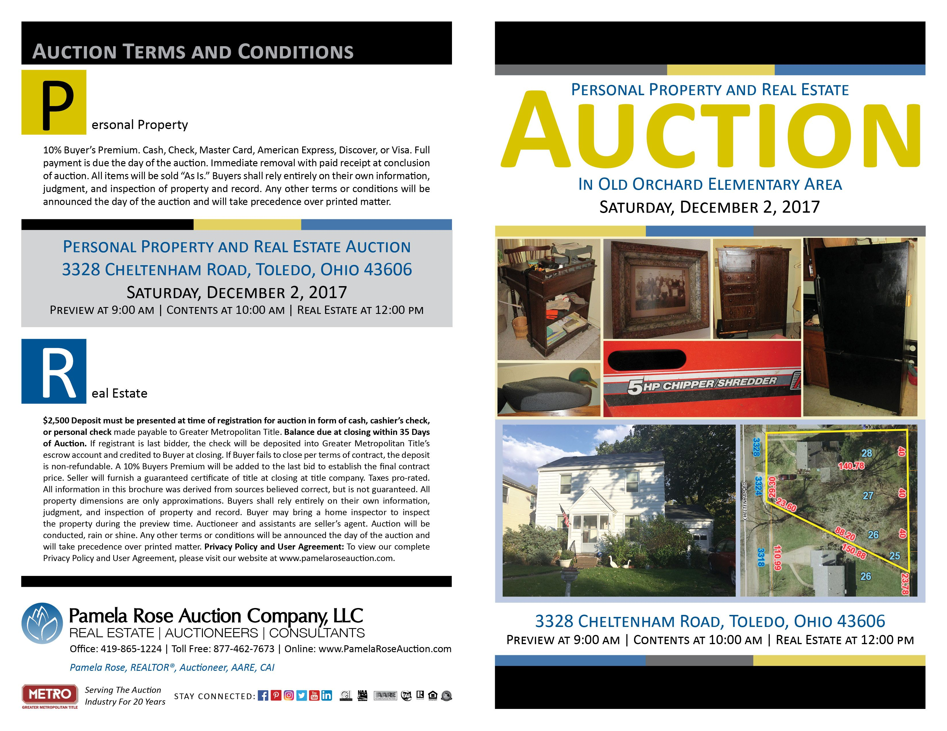 Content Auction at 10:00 am  Home is full of household items