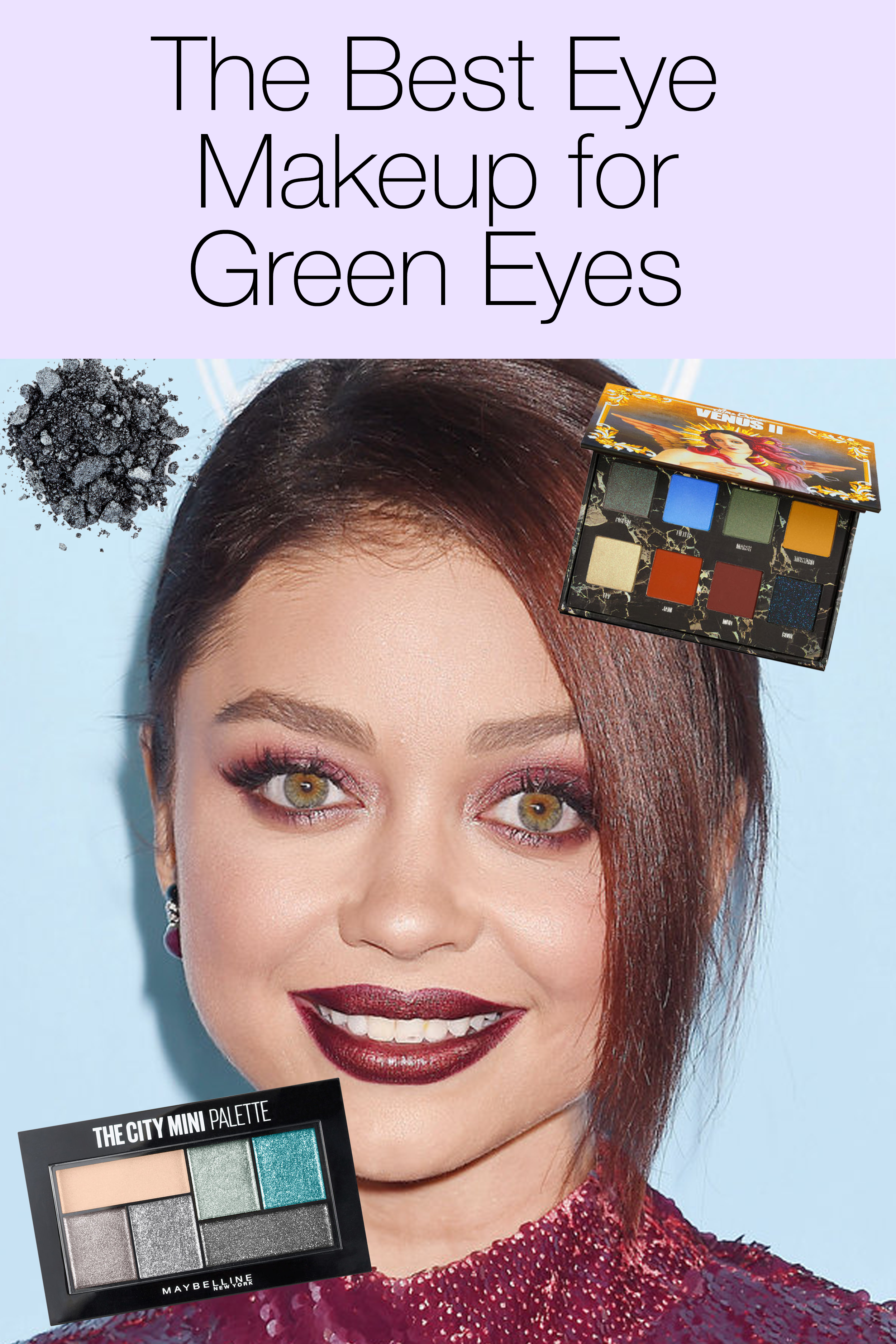Celebs With Green Eyes Closeup Products Click Above For All Of The Best Palettes For Green Eyed Beauties Green Eyes Makeup For Green Eyes Cool Eyes