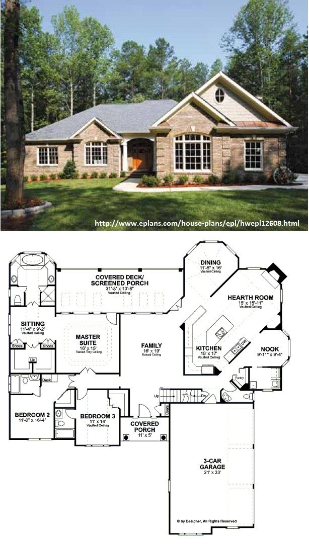 Traditional Style House Plan 3 Beds 3 5 Baths 2461 Sq Ft Plan 56 541 Sims House Plans Colonial House Plans Dream House Plans